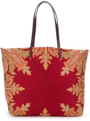 Etro Jacquard Paisley Print Shoulder Bag