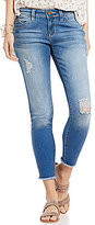 YMI Jeanswear WannaBettaButt Destructed Frayed Hem Woven Stretch Ankle Skinny Jeans