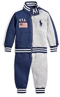 Ralph Lauren Polo Boys' Color Blocked Track Jacket & Jogger Pants Cotton Set - Baby