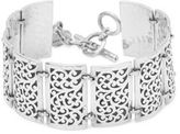 Lois Hill Sterling Silver Cutout Rectangular Bracelet