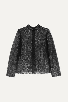 Beaufille Pallene Lace Blouse - Black