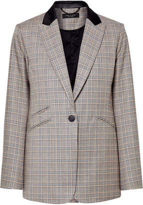 Rag & Bone Prince Of Wales Checked Wool And Cotton-blend Blazer
