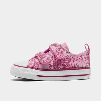 Converse Girls' Toddler Chuck Taylor All Star Ocean Prints Hook-and-Loop Low Top Casual Shoes