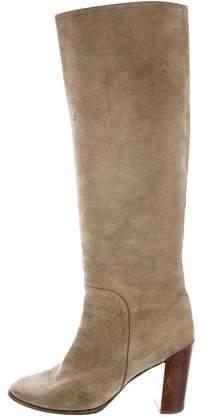 Celine Suede Knee-High Boots