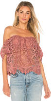 Lovers + Friends Life's A Beach Top in Mauve. - size L (also in M,S,XS)
