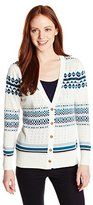 Pendleton Women's Petite Stripe Cardi Sweater