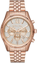 Michael Kors Men's Chronograph Lexington Rose Gold-Tone Stainless Steel Bracelet Watch 44mm MK8580