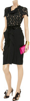 Roland Mouret Harman lace and crepe-jersey dress