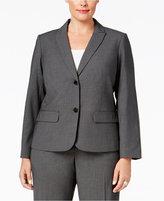 Calvin Klein Plus Size Pinstriped Two-Button Blazer