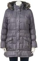 Urban Republic Juniors' Plus Size Puffer Jacket