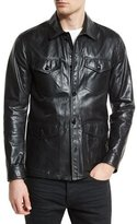 Tom Ford Lightweight Leather Racer Jacket, Black