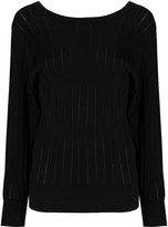 Agnona fine knit ribber jumper