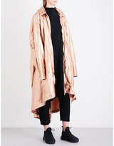 Y-3 Y3 Oversized metallic-shell parka coat