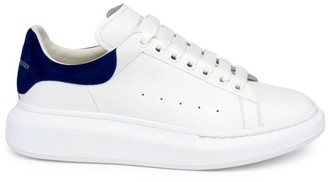 Alexander McQueen Men's Oversized Leather Flatform Sneakers