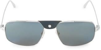 Cartier 60MM Square Browline Sunglasses