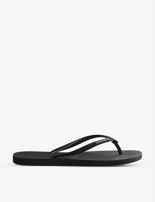 Havaianas Slim Sparkle rubber flip-flops