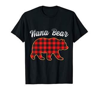 Buffalo David Bitton Nana Bear Red Plaid Matching Family Gift T-Shirt