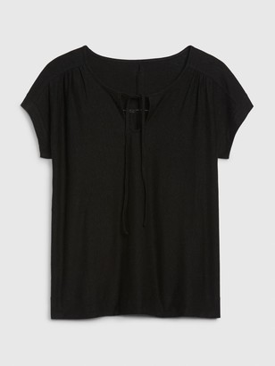 Gap Tie-Front Short Sleeve T-Shirt