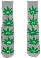 HUF Men's Green Buddy Crew Sock