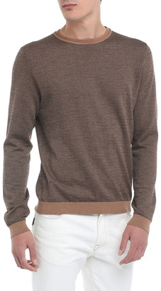 Fendi Men's Micro-FF Fleece Wool Sweater