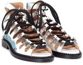 Toga Sandalo Cut-out Lace-up In Pelle