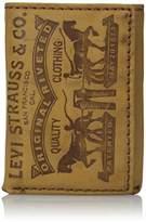 Levi's Men's Leather 2 Horse Logo Trifold Wallet