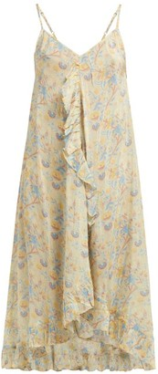 Mes Demoiselles Sulpahe Midi Slip Dress - Womens - Beige Print