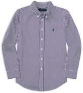 Ralph Lauren Boys' Poplin Bengal Stripe Shirt - Sizes S-XL