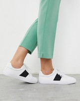Asos Design DESIGN Dime lace up sneakers in white/black