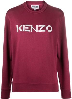 Kenzo Long-Sleeve Logo-Print Top