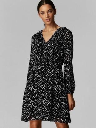 Wallis Petite Blush Spot Ruffle Frill Front Dress