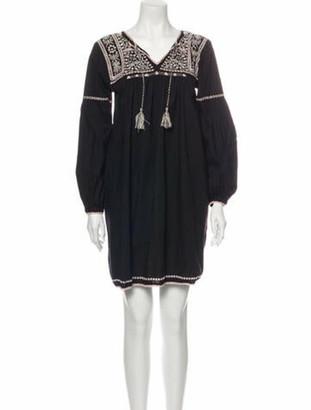 Ulla Johnson V-Neck Mini Dress Black