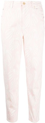 Temperley London Fontana high-rise cropped slim-fit jeans