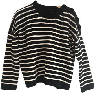 Maje Navy Wool Knitwear for Women