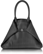 Akris Ai Medium Black Horsehair Tote Bag