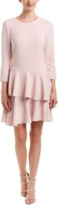 Eliza J Women's 3/4 Sleeve Dress with Tiered Ruffle Skirt