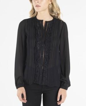 Nanette Lepore nanette Long Sleeve Button Up Pintucked Blouse