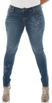 Plus Size Women's Slink Jeans Embroidered Skinny Jeans