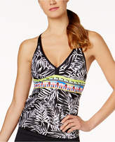 Jag Tropical Palm Racerback Tankini Top Women's Swimsuit