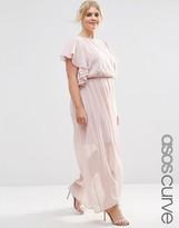Asos Ruffle Sleeve Maxi Dress
