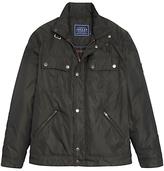Joules Harley Padded Biker Jacket, Black/olive