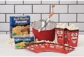 Whirley Pop 6 Qt. Red Aluminum Stovetop Popcorn Popper, Popcorn and Disposable Tubs Set (3-Piece)