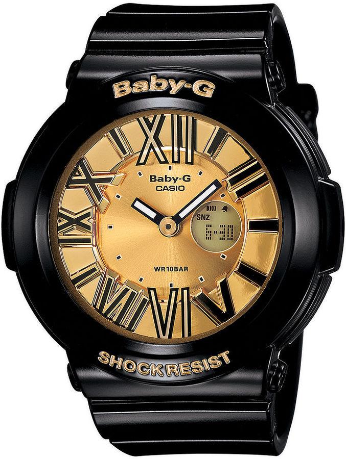 Baby-G Watch, Women's Analog-Digital Black Resin Strap 43x44mm BGA160-1B