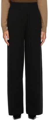 Max Mara Black Wool and Cashmere Ode Lounge Pants