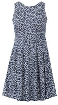 Dorothy Perkins Womens Izabel London Blue Ditsy Print Skater Dress, Blue