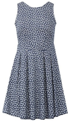 Dorothy Perkins Womens *Izabel London Blue Ditsy Print Skater Dress, Blue