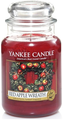 Yankee Candle Large Jar Candle Red Apple Wreath