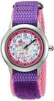 EWatchFactory Girl's 'Discovery Channel' Quartz Stainless Steel and Nylon Sport Watch, Color:Purple (Model: WDC000004)