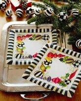 Mackenzie Childs MacKenzie-Childs Deck the Halls Paper Dessert Plates