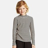 Uniqlo Girls Ribbed High Neck Long Sleeve T-Shirt